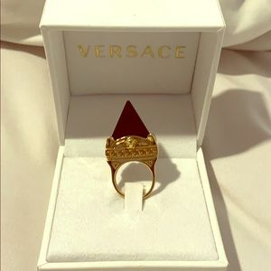 Versace Ring - Black and Gold